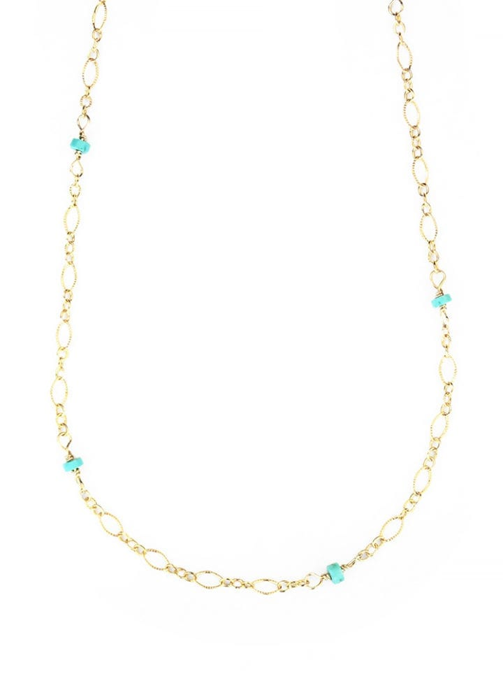 Turquoise Filigree Layering Necklace