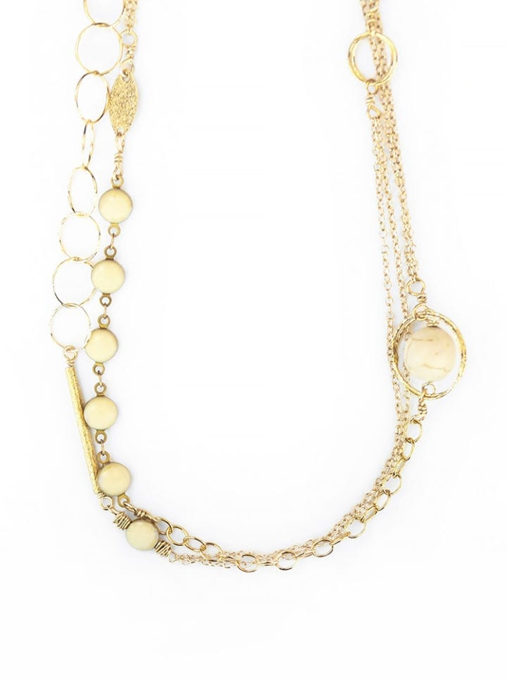 Ivory Precious Metal TL Necklace